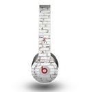 The Grungy Red & White Brick Wall Skin for the Beats by Dre Original Solo-Solo HD Headphones