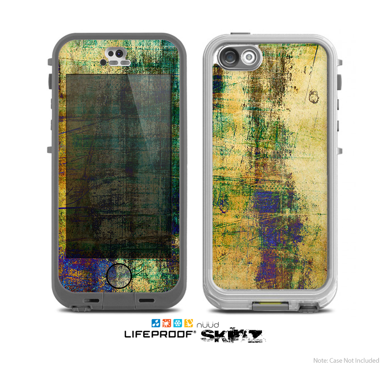 The Grungy Scratched Surface V3 Skin for the Apple iPhone 5 NUUD LifeProof Case for the Lifeproof Skin