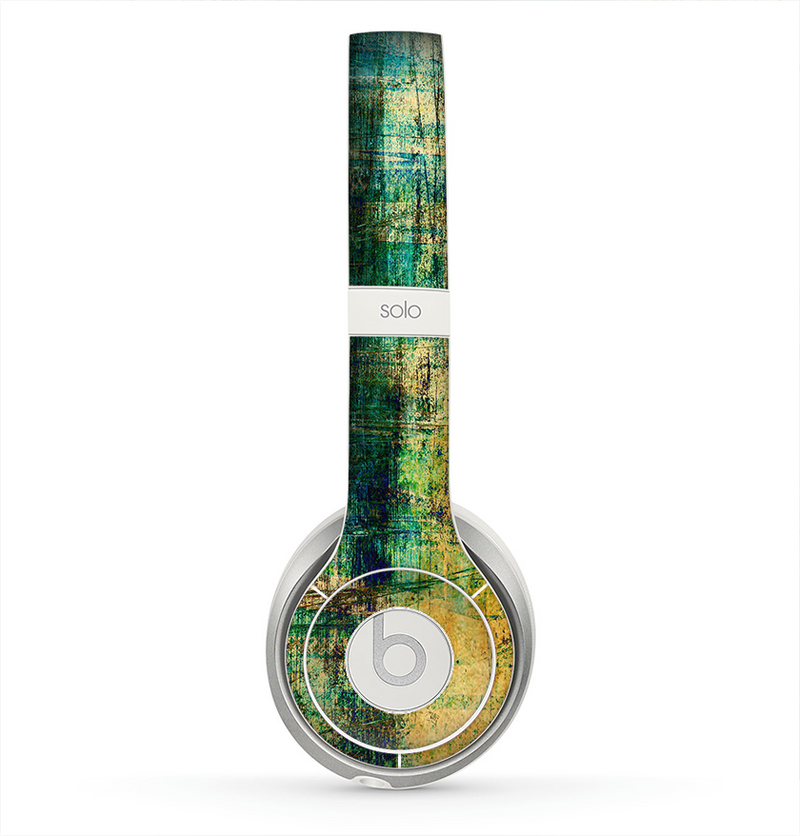 The Grungy Scratched Surface V3 Skin for the Beats by Dre Solo 2 Headphones