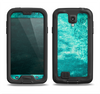 The Grungy Teal Chipped Concrete Samsung Galaxy S4 LifeProof Fre Case Skin Set