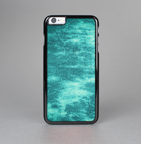 The Grungy Teal Chipped Concrete Skin-Sert Case for the Apple iPhone 6 Plus