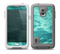 The Grungy Teal Chipped Concrete Skin for the Samsung Galaxy S5 frē LifeProof Case