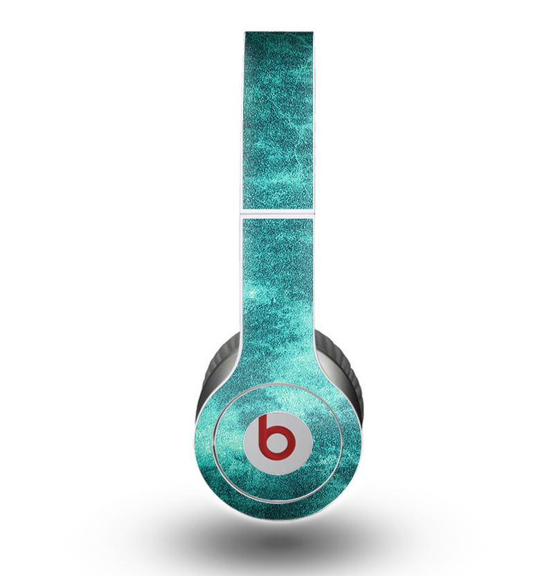 The Grungy Teal Chipped Concrete Skin for the Beats by Dre Original Solo-Solo HD Headphones