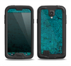 The Grungy Teal Surface Samsung Galaxy S4 LifeProof Fre Case Skin Set