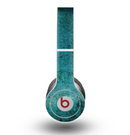 The Grungy Teal Surface Skin for the Beats by Dre Original Solo-Solo HD Headphones