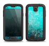 The Grungy Teal Surface V3 Samsung Galaxy S4 LifeProof Fre Case Skin Set