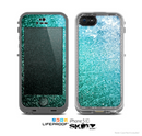 The Grungy Teal Texture Skin for the Apple iPhone 5c LifeProof Case