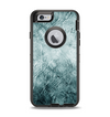The Grungy Teal Wavy Abstract Surface Apple iPhone 6 Otterbox Defender Case Skin Set
