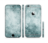 The Grungy Teal Wavy Abstract Surface Sectioned Skin Series for the Apple iPhone 6