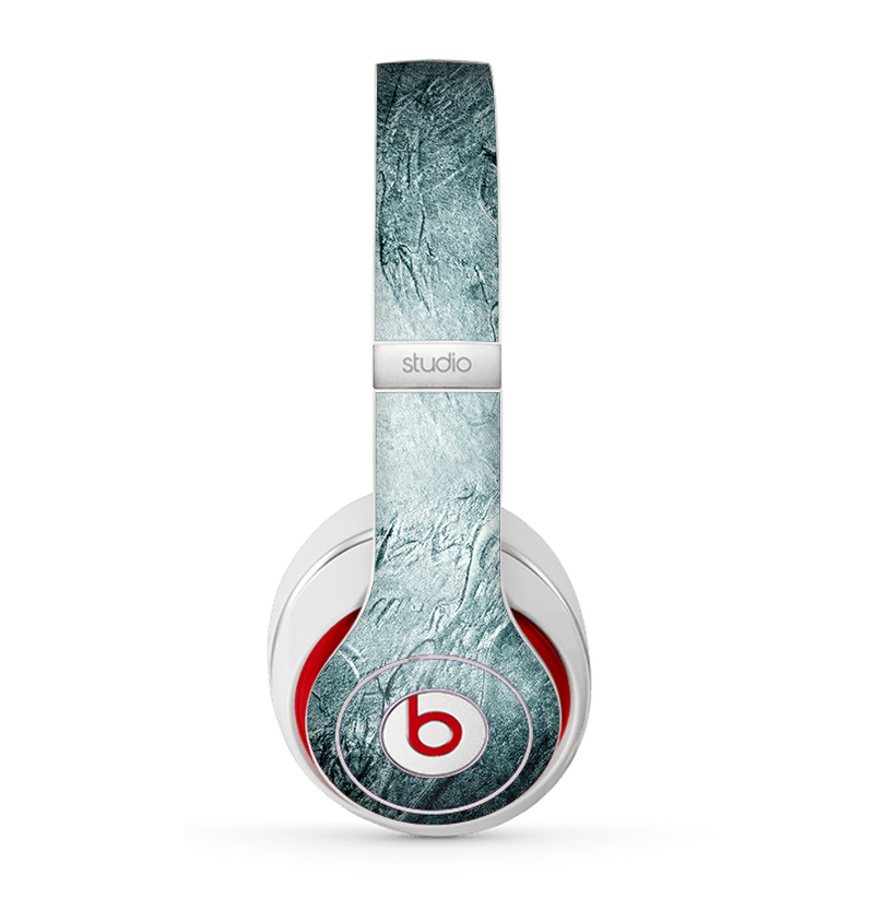 The Grungy Teal Wavy Abstract Surface Skin for the Beats by Dre Studio (2013+ Version) Headphones