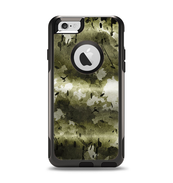 The Grungy Vivid Camouflage Apple iPhone 6 Otterbox Commuter Case Skin Set