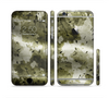 The Grungy Vivid Camouflage Sectioned Skin Series for the Apple iPhone 6