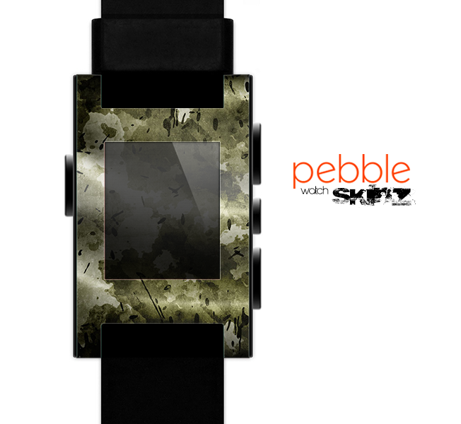 The Grungy Vivid Camouflage Skin for the Pebble SmartWatch
