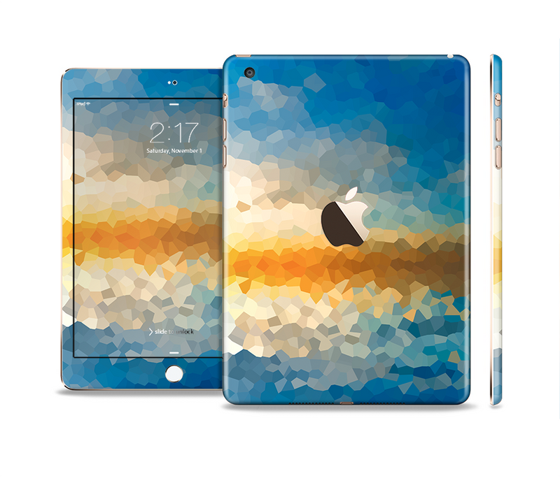 The Hammered Sunset Full Body Skin Set for the Apple iPad Mini 3