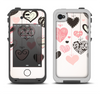 The Hanging Styled-Hearts Apple iPhone 4-4s LifeProof Fre Case Skin Set