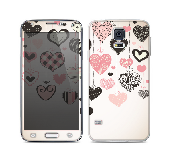 The Hanging Styled-Hearts Skin For the Samsung Galaxy S5