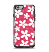 The Hanging White Vector Floral Over Red Apple iPhone 6 Otterbox Symmetry Case Skin Set