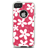 The Hanging White Vector Floral Over Red Skin For The iPhone 5-5s Otterbox Commuter Case