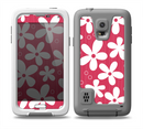 The Hanging White Vector Floral Over Red Skin for the Samsung Galaxy S5 frē LifeProof Case