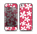 The Hanging White Vector Floral Over Red Skin Set for the iPhone 5-5s Skech Glow Case