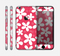The Hanging White Vector Floral Over Red Skin for the Apple iPhone 6