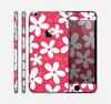 The Hanging White Vector Floral Over Red Skin for the Apple iPhone 6 Plus