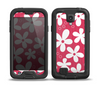 The Hanging White Vector Floral Over Red Skin for the Samsung Galaxy S4 frē LifeProof Case