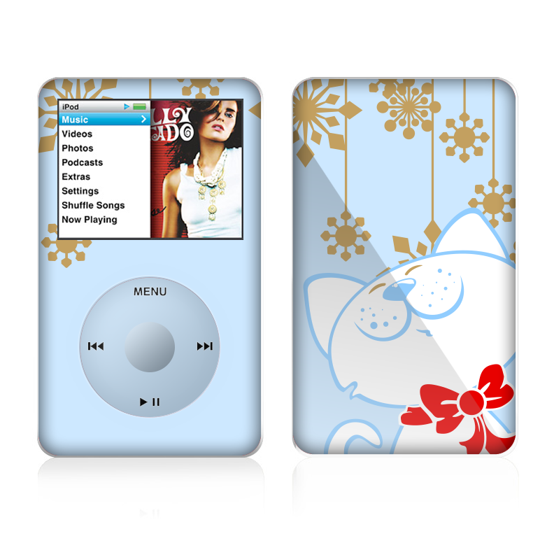 The Happy Winter Cartoon Cat Skin For The Apple Ipod Classic Designskinz