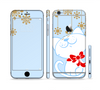 The Happy Winter Cartoon Cat Sectioned Skin Series for the Apple iPhone 6 Plus