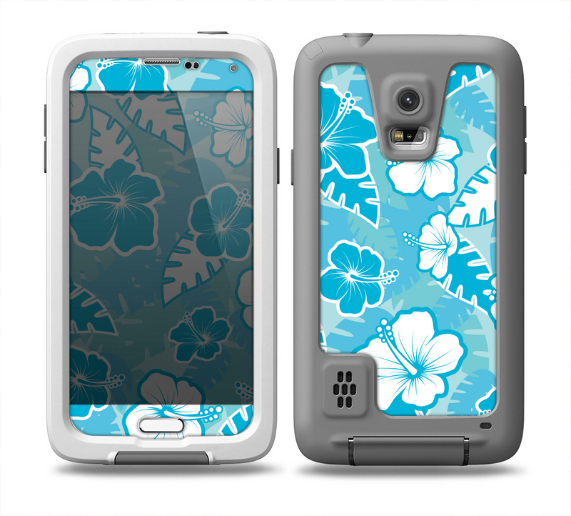 The Hawaiian Floral Pattern V4 Skin for the Samsung Galaxy S5 frē LifeProof Case