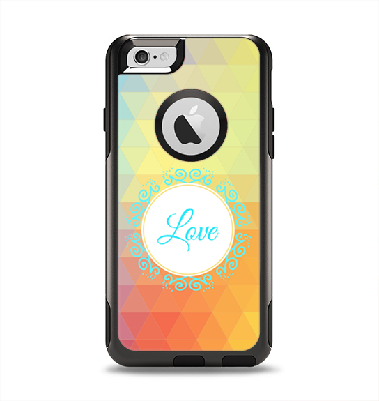 The HighLighted Colorful Triangular Love Apple iPhone 6 Otterbox Commuter Case Skin Set