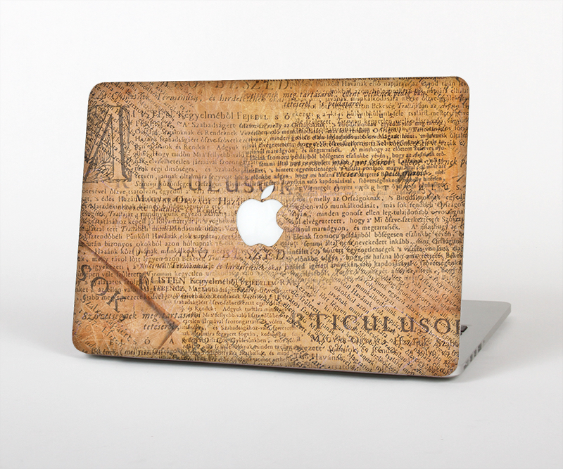 "The Historical Word Overlay Skin Set for the Apple MacBook Pro 15"" with Retina Display"