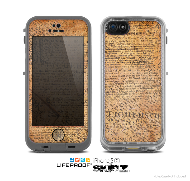 The Historical Word Overlay Skin for the Apple iPhone 5c LifeProof Case