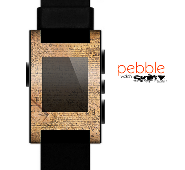The Historical Word Overlay Skin for the Pebble SmartWatch