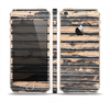 The Horizontal Peeled Dark Wood Skin Set for the Apple iPhone 5s