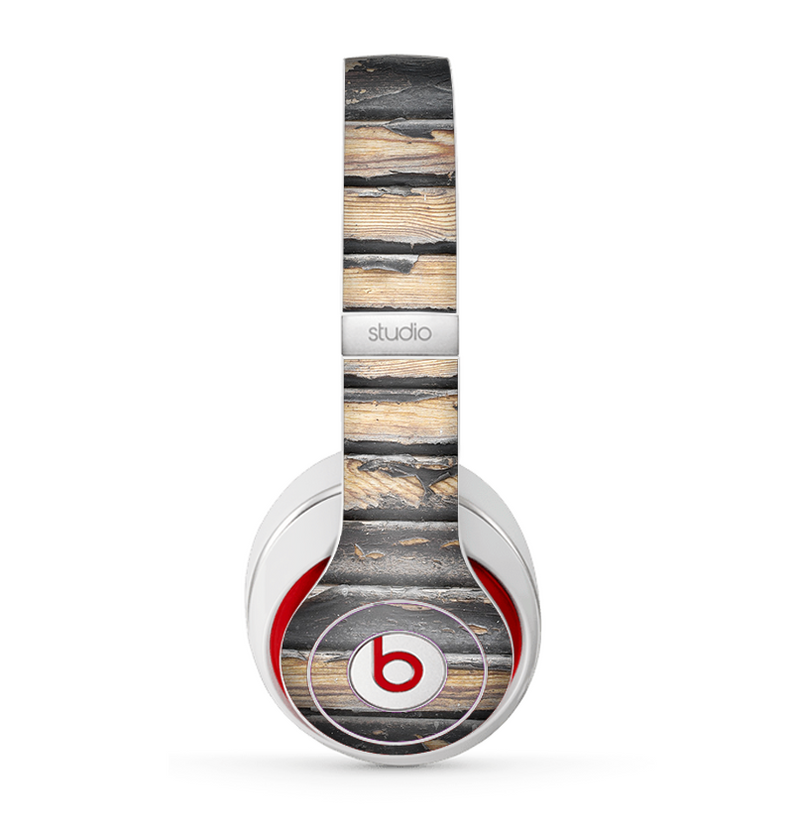 The Horizontal Peeled Dark Wood Skin for the Beats by Dre Studio (2013+ Version) Headphones