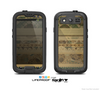 The Horizontal Tan & Green Vintage Pattern Skin For The Samsung Galaxy S3 LifeProof Case