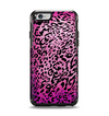 The Hot Pink Cheetah Animal Print Apple iPhone 6 Otterbox Symmetry Case Skin Set