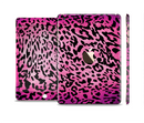 The Hot Pink Cheetah Animal Print Full Body Skin Set for the Apple iPad Mini 3