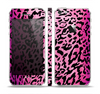 The Hot Pink Cheetah Animal Print Skin Set for the Apple iPhone 5
