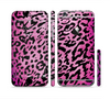 The Hot Pink Cheetah Animal Print Sectioned Skin Series for the Apple iPhone 6 Plus