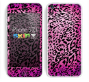 The Hot Pink Cheetah Animal Print Skin for the Apple iPhone 5c