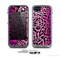 The Hot Pink Cheetah Animal Print Skin for the Apple iPhone 5c LifeProof Case