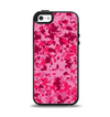 The Hot Pink Digital Camouflage Apple iPhone 5-5s Otterbox Symmetry Case Skin Set