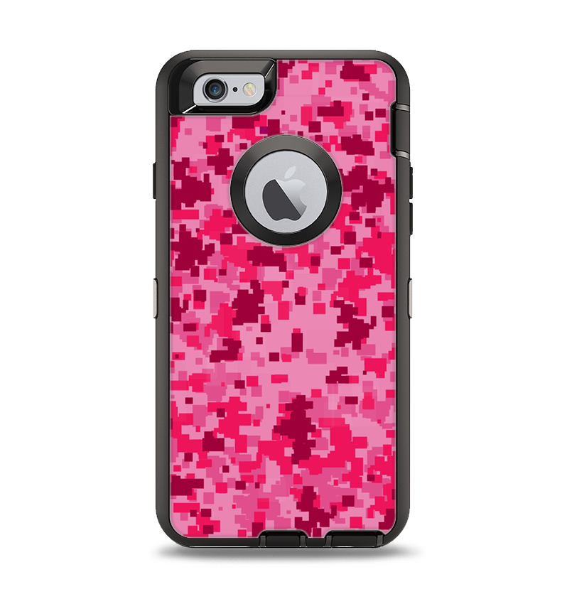 The Hot Pink Digital Camouflage Apple iPhone 6 Otterbox Defender Case -  DesignSkinz feb75266e6d0