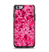 The Hot Pink Digital Camouflage Apple iPhone 6 Otterbox Symmetry Case Skin Set