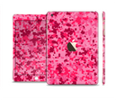 The Hot Pink Digital Camouflage Full Body Skin Set for the Apple iPad Mini 3
