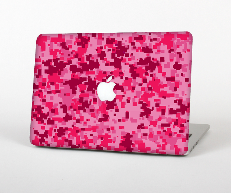 "The Hot Pink Digital Camouflage Skin Set for the Apple MacBook Pro 15"" with Retina Display"