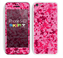 The Hot Pink Digital Camouflage Skin for the Apple iPhone 5c