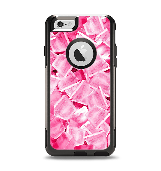 The Hot Pink Ice Cubes Apple iPhone 6 Otterbox Commuter Case Skin Set